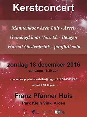 Bekijk bericht Kerstconcert Arch Luit in Frans Pfannerhuis